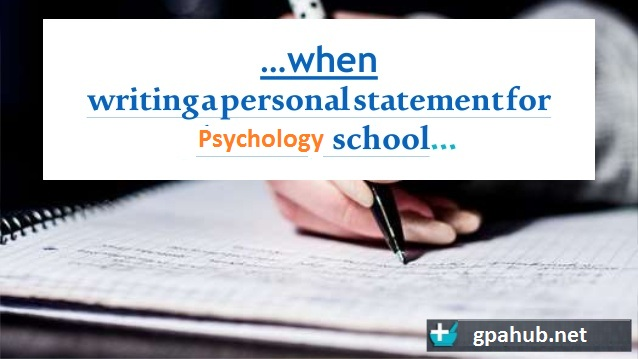 How to start writing a personal statement