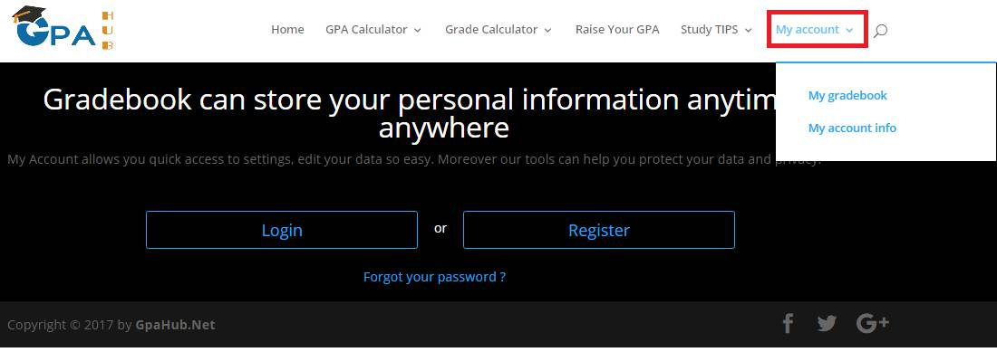 login my account to save college grades