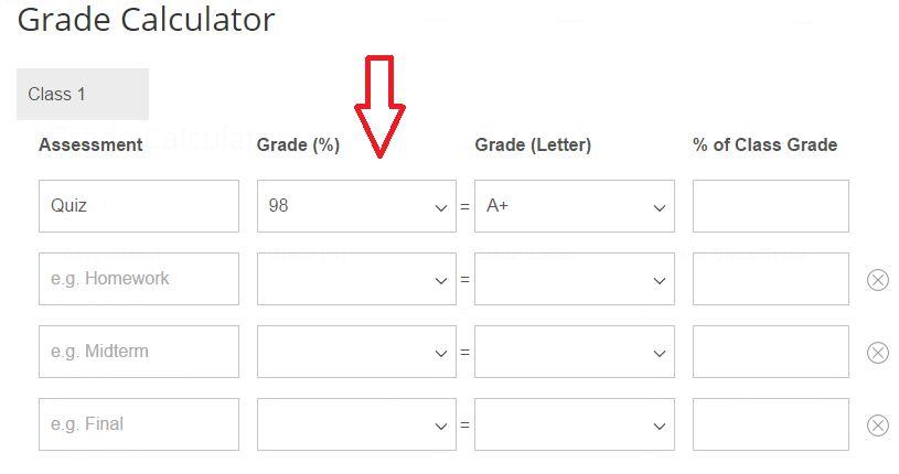 Online Grade Calculator - grade percentage calculator