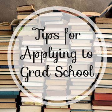 tips for applying to grad school
