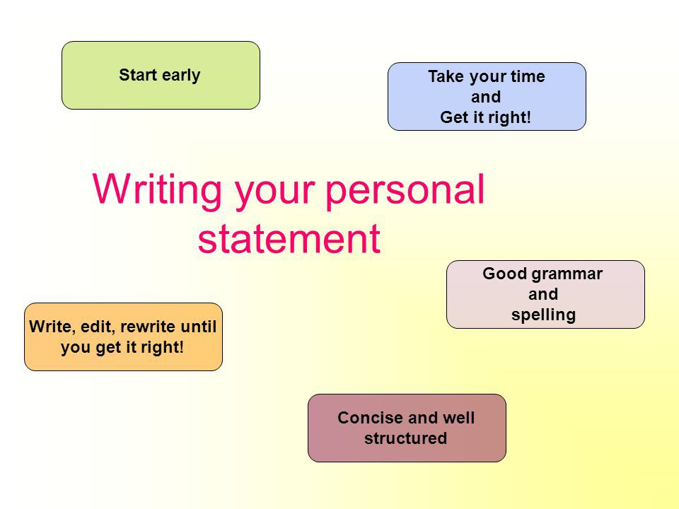 write an impressive personal statement