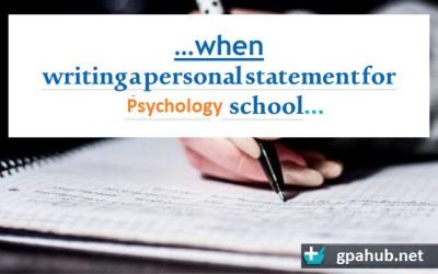 Tips on How to Write a Perfect Psychology Personal Statement