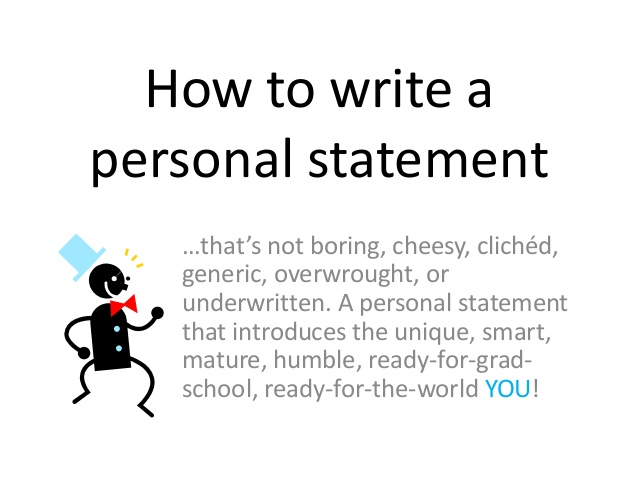 write a personal statement